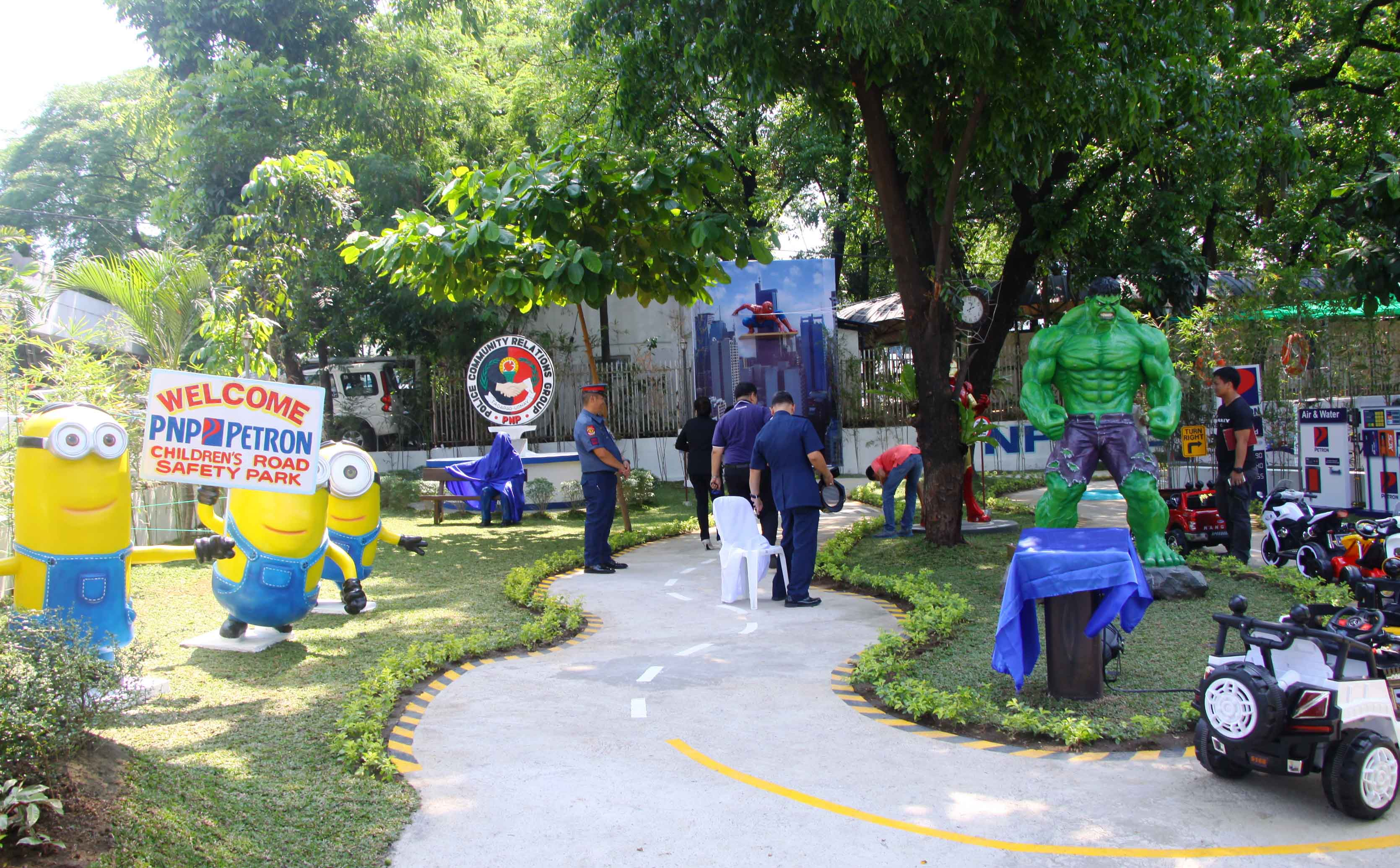 Petron, PNP Open Road Safety Park for kids in Camp Crame