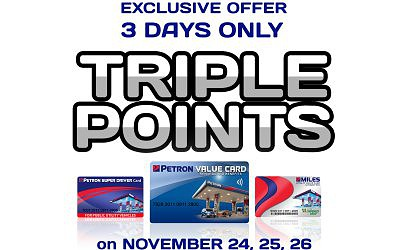 Triple Points Promo November 24-26, 2018