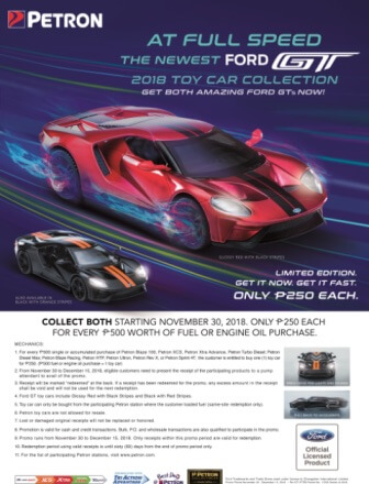 Petron Ford GT Limited Toy Car Collection