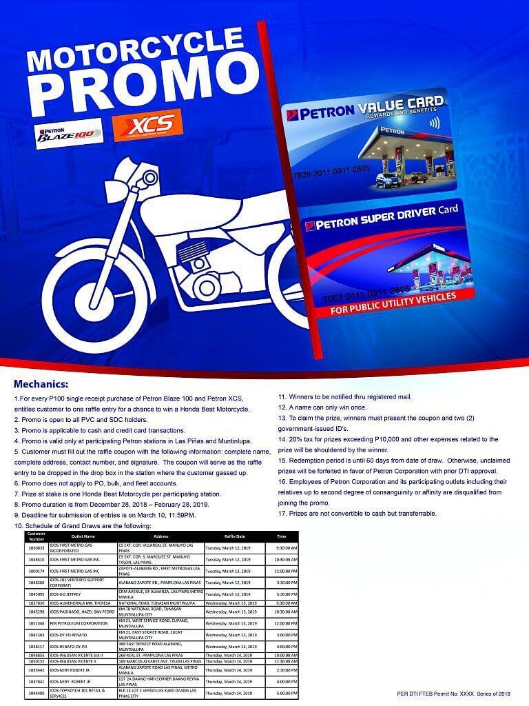 Motorcycle Raffle Promo