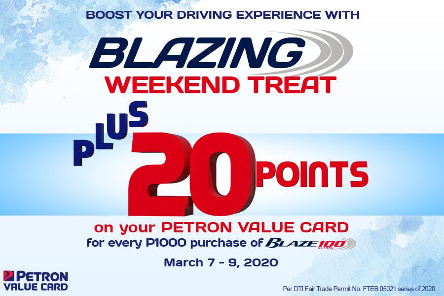 Blazing Weekend Treat (Mar. 7-9, 2020)