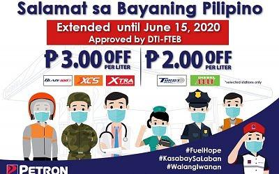 Salamat Sa Bayaning Pilipino Price-Off Program (April 12-June 15, 2020)