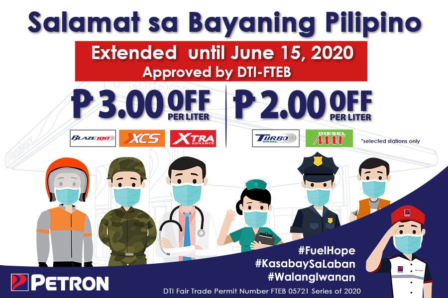 Salamat Sa Bayaning Pilipino Price-Off Program (April 12-June 15, 2020)