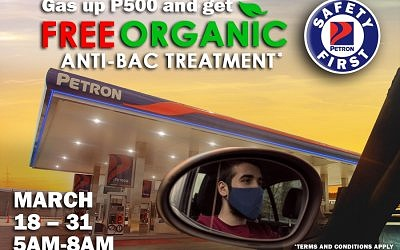 Safety First! Promo (March 18-31, 2021/ 5AM-8AM)