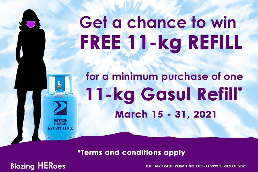 Blazing HERoes Promo: Win an 11-kg Gasul Refill (March 15 to 31, 2021)