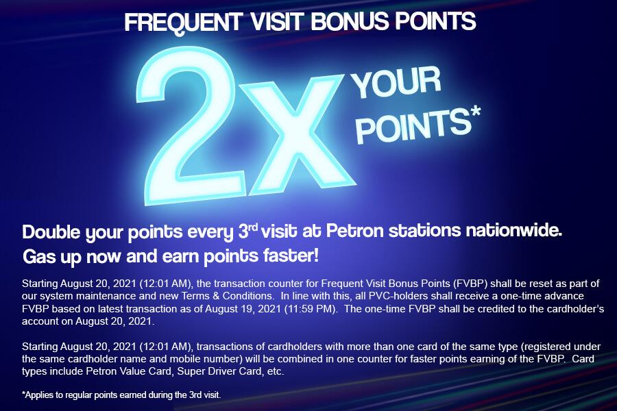Advisory on Petron Loyalty Program (Frequent Visit Bonus Points)